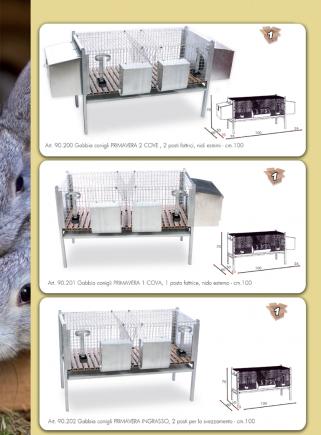Gabbia conigli Primavera 1 cova - 2