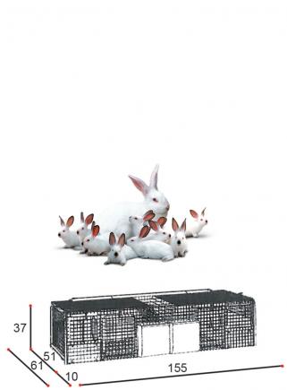 Cage rabbits mares 2N basket