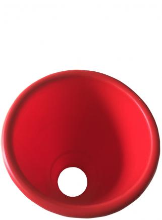 Plastic blood funnel