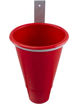 Plastic blood funnel with holder - 2