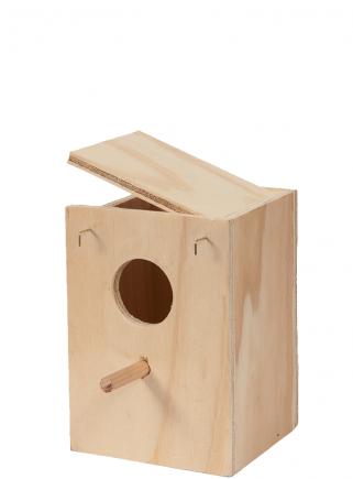Nido legno Cocorite cm.13x12x17 h. - 1