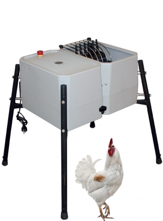 Esterina plucking machine in ABS 24 fingers with stainless steel grill for chickens - 1