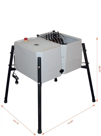 Esterina plucking machine in ABS 24 fingers with stainless steel grill for chickens