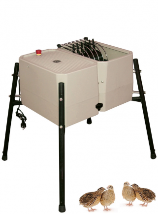 Esterina plucking machine in ABS 24 fingers with stainless steel grid for quails - 1