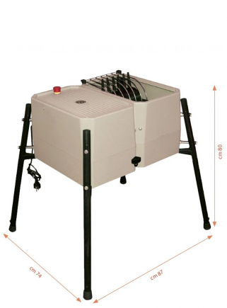 Esterina plucking machine in ABS 24 fingers with stainless steel grid for quails