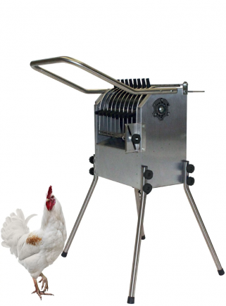 Esterina INOX 36 fingers plucking machine with stainless steel grill for chickens - 1
