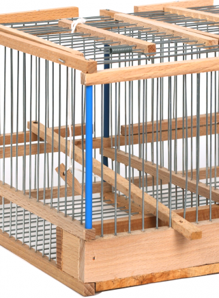 Blue tit cage with 2 compartments