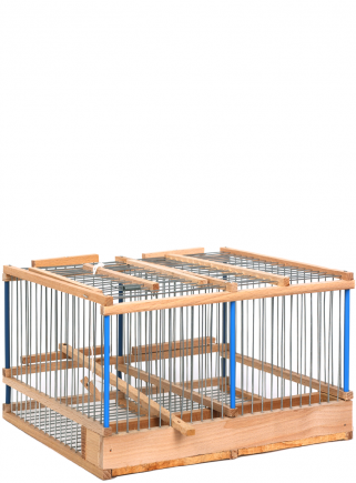 Blue tit cage with 2 compartments - 1