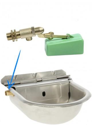 Abbeveratoio automatico acciaio inox valvola ottone