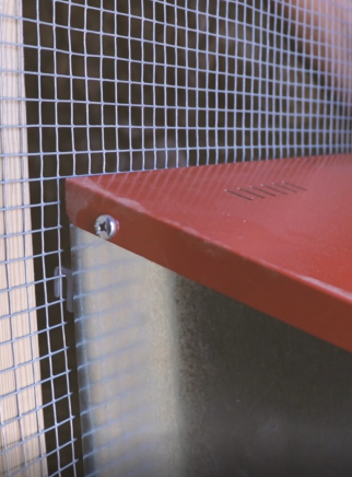 Nest for hens 1 hole PLATIN for outside cage - 8