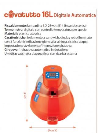 16L digital incubator with automatic egg turner