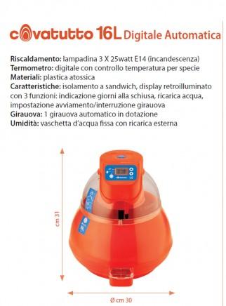 Covatutto 16L DIGITAL incubator with egg turner - 4