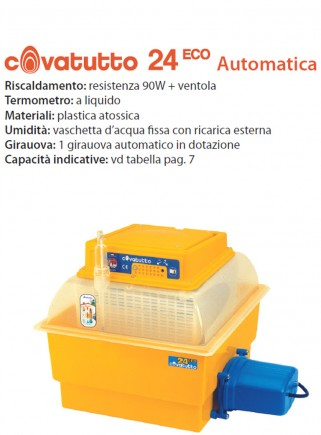 Incubatrice 24 ECO analogica automatica