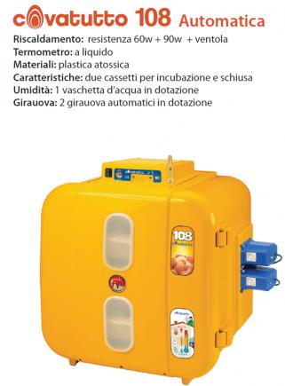 Incubatrice covatutto 108 analogica automatica - 2