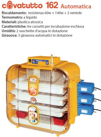 Incubatrice 162 analogica automatica - 2