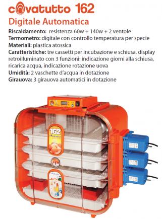 162 automatic digital incubator