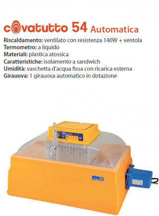 Incubatrice 54 analogica automatica
