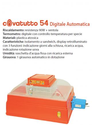 Incubatrice 54 digitale automatico
