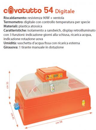 54 digital incubator