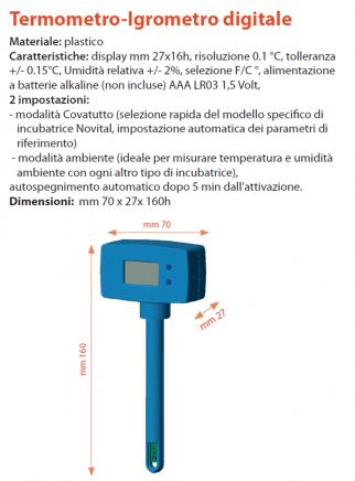 Digital thermohygrometer for covatutto incubator - 3