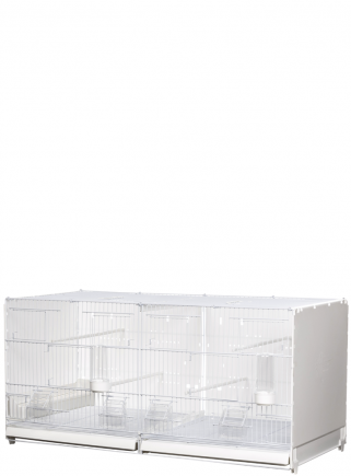 Cage hatching cm.90 Positano white side and back closed mang.int/est. - 1