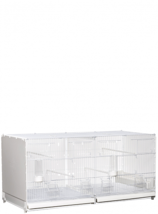 Cage hatching cm.90 Positano white side and back closed mang.int/est. - 2