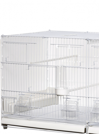 Cage hatching cm.90 Positano white side and back closed mang.int/est. - 3