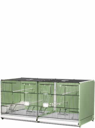 Breeding cage cm.90 Portofino vern. green / black side and back closed mang. int. and east. - 1