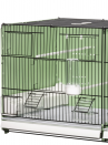 Breeding cage cm.90 Portofino vern. green / black side and back closed mang. int. and east. - 3