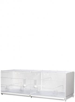 Gabbia cova 120 Cortina verniciata laterali e retro chiusi in plastica - 1
