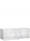 Gabbia cova 120 Cortina verniciata laterali e retro chiusi in plastica - 2