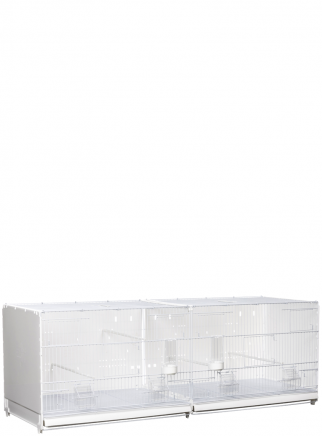 Hatching cage 120 Painted curtain side and back closed in plastic - 2