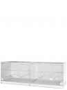 Hatching cage 120 cm Sestriere galvanized side and back closed - 1