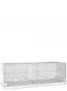 Gabbia cova cm.120 Sestriere zincata laterali e retro chiusi - 2