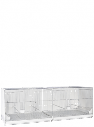 Hatching cage 120 cm Sestriere galvanized side and back closed - 2