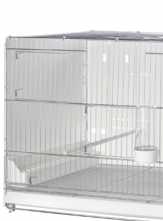 Hatching cage 120 cm Sestriere galvanized side and back closed - 3