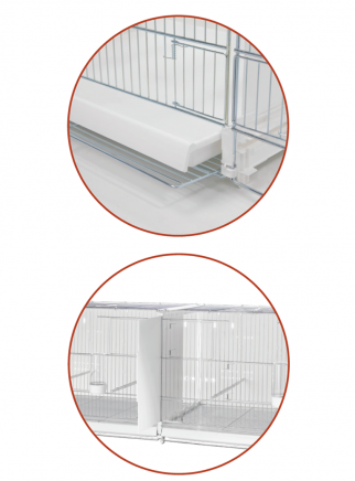 Hatching cage 120 cm Sestriere galvanized side and back closed - 4