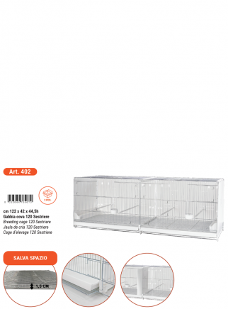 Hatching cage 120 cm Sestriere galvanized side and back closed - 6