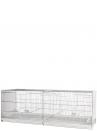 Gabbia cova cm.120 zincata con laterali chiusi in plastica - 1