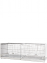 Hatching cage 120 cm Livigno galvanized with closed plastic sides - 1