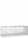 Gabbia cova cm.120 zincata con laterali chiusi in plastica - 2