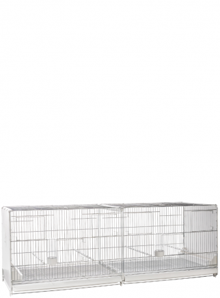 Hatching cage 120 cm Livigno galvanized with closed plastic sides - 2