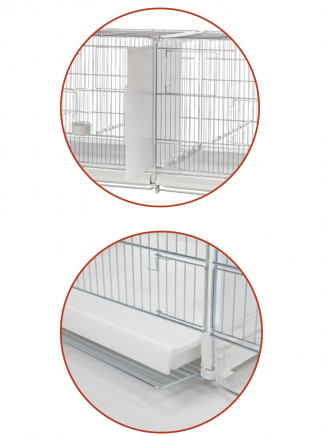 Hatching cage 120 cm Livigno galvanized with closed plastic sides - 4