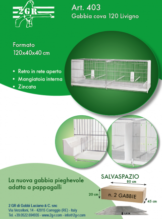 Hatching cage 120 cm Livigno galvanized with closed plastic sides - 5