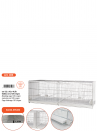 Hatching cage 120 cm Livigno galvanized with closed plastic sides - 6