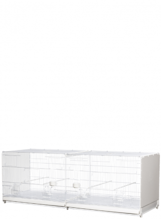 Gabbia cova cm.120 Bormio verniciata laterali in plastica chiusi - 1