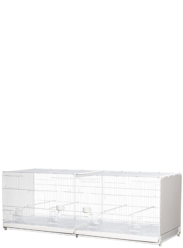 Hatching cage 120 cm Bormio painted plastic sides closed - 1