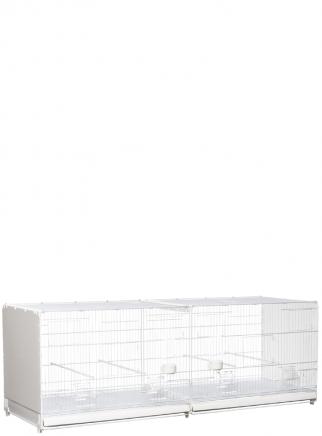 Hatching cage 120 cm Bormio painted plastic sides closed - 2