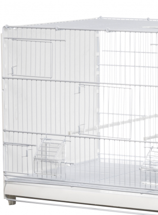 Hatching cage 120 cm Bormio painted plastic sides closed - 3