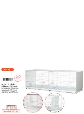 Gabbia cova cm.120 Bormio verniciata laterali in plastica chiusi - 5